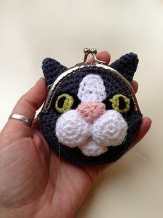 Buy Cat Coin Purse crochet pattern - Allcrochetpatterns.net