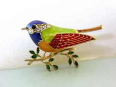 Bird brooch, bird pin, christmas gift for her, bird lover gift, by on Etsy Dog Pin, Christmas Gifts For Her, Terrier Dogs, Dog Lover Gifts, Uk Shop, Cottage Chic, Vintage Brooches, Bird