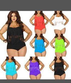 2c83f196618e5 Buy Pandolah High Waist Women Bikini Set Plus size Super sexy Padded Tassel  Swimwear Fringe Swimsuit at Wish - Shopping Made Fun