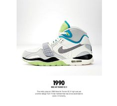 The Genealogy of Nike Training - Page 5 of 6 - SneakerNews.com Vintage Shoes Men, Vintage Sneakers, Retro Sneakers, Classic Sneakers, Vintage Nike, Nike Kicks, Kicks Shoes, Bo Jackson Shoes, Tenis Basketball