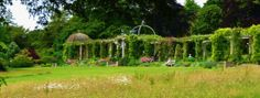 The Harold Peto Pergola with roses at the lovely West Dean Gardens in Sussex