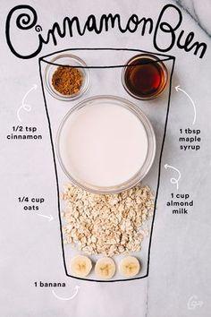 15. Cinnamon Bun #greatist http://greatist.com/eat/simple-smoothie-recipes