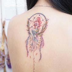 Back tattoo tattoo ideas and inspiration dream catcher tattoo, mermai Girly Tattoos, Cute Tattoos, Beautiful Tattoos, Small Tattoos, Tatoos, Maori Tattoos, Body Art Tattoos, Tribal Tattoos, Xoil Tattoos