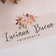 Logo/Logomarca Pré-criada - Fotografo Logo Floral, Flower Logo, Logo Design Tutorial, Design Tutorials, Creative Design, Web Design, Graphic Design, Logo Minimalista, Typography Design
