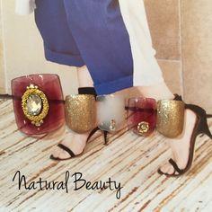 クリアボルドーネイル♡ #アンティーク #エスニック #デート #パーティー #ゴールド #夏 #秋 #ジェルネイル #ボルドー #ホワイト #チップ #フット #ショート #naturalbeauty #ネイルブック