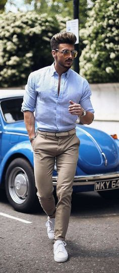 Casual Outfit Mens Fashion Trends For 2018 Business casual men Casual Work Outfits, Work Casual, Men Casual, Dress Casual, Outfit Hombre Formal, Casual Chic Summer, Elegantes Outfit, Fashion Mode, Fashion Hats