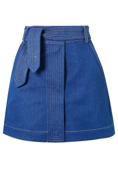 These 31 Out-of-the-Box Denim Pieces Will Flesh Out Your Fall Wardrobe Denim on denim has never been easier to master. Winter Skirt Outfit, Skirt Outfits, Short Skirts, Mini Skirts, Denim Fashion, Fashion Outfits, Tennis Skirts, Mode Jeans, Types Of Skirts