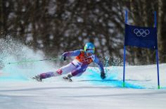 DAY 13:  Adam Zampa of Slovakia in action during the Alpine Skiing Men's Giant Slalom http://sports.yahoo.com/olympics