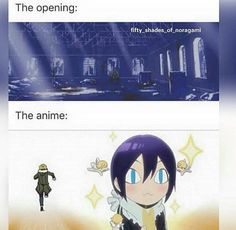 Noragami opening vs the anime// but it still ends up being perfect