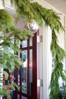 simple green garland framing doorway