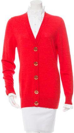 Tory Burch Ruffle-Accented Wool Cardigan Wool Cardigan, Tory Burch, Cardigans, Sweaters For Women, Stylish, Tops, Fashion, Moda, Fashion Styles