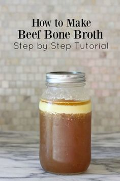 As you know, I am a big fan of the benefits of bone broth. But I have noticed from the comments on my last bone broth tutorial that people were making and having great success with chicken broth, but no one was talking about having made the beef broth. Perhaps people might have found it a little int