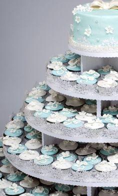 So very pretty!  Cupcake Tree Decorating Kit - Vine Wraps for Large Round Cupcake Tree $29.95