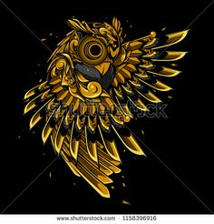 Find Owl Gold Doodle Ornament stock images in HD and millions of other royalty-free stock photos, illustrations and vectors in the Shutterstock collection. Owl Tattoo Design, Illustration Art Drawing, Illustrations, Owl Doodle, Owl Artwork, Cartoon House, Owl Logo, Abstract Iphone Wallpaper, Tattoo Graphic