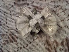 White Ribbon and Roses Magnet by GloriaMillerCreation on Etsy, $3.99