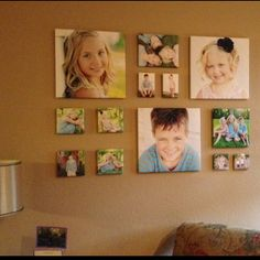 canvas picture collage layout photography canvas display ideas