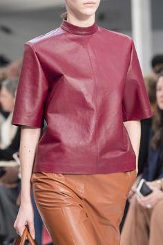 Tod's Fall 2019 Ready-to-Wear Fashion Show Details: See detail photos for Tod's Fall 2019 Ready-to-Wear collection. Look 84 Leather Mini Dress, Leather Blazer, Leather Dresses, Vogue Paris, Urban Looks, Vogue Russia, Jumpsuit Dress, Leather Design, Mannequins