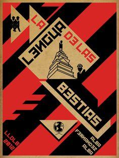 CONSTRUCTIVISMO, después de la revolución, elementos pesados, uso de colores rojo y negro