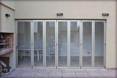 PUERTAS PLEGADIZAS | Batlo Carpinteria de Aluminio Steel Doors And Windows, Decoration, Ideas Para, Entrance, Patio, Furniture, Home Decor, Cnc, Skylight