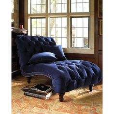 This Chair looks perfect for the reading nook. Old Hickory Tannery Royal Marco Chaise, found on polyvore.com