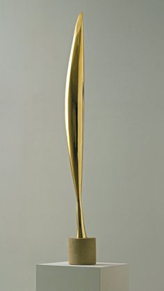 Brancusi (Romanian sculptor): Bird in Space (1928 version; bronze, limestone and wood). Museum of Modern Art, New York.