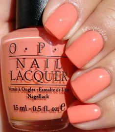 OPI Apricotcha Cheating
