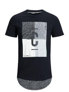 LONGLINE T-SHIRT, Black, large