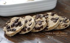 Grain Free Cookie Dough Cookies (Just Organic Creamed Coconut, coconut sugar, vanilla extract, salt, chocolate chips)