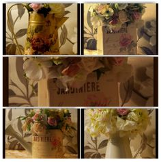 When its all about the vintage shabby chic styling, The Timeless Table has a stunning collection of antique and vintage inspired tin ware perfect for your wedding table centers.   www.thetimelesstable.co.uk