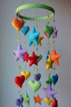 2014 hot sale high quality new products wholesale suppliers promotional gift felt interior party home decoration wind bell Baby Crafts, Felt Crafts, Diy And Crafts, Kids Crafts, Arts And Crafts, Baby Mobile, Felt Baby, Felt Fabric, Felt Toys