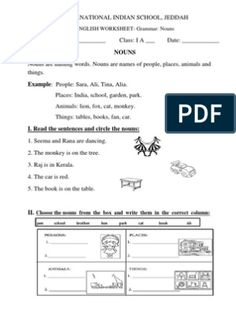 English Worksheets- Class 1 (Nouns, Plurals, Verbs, Adjectives and Punctuation) Preschool Activity Books, Preschool Lesson Plans, Book Activities, Kindergarten Syllabus, Maths Syllabus, Lkg Worksheets, Nursery Worksheets, Grammar Exercises, Reading Comprehension Worksheets