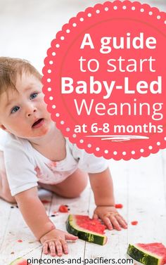 Why should you start baby-led weaning? Baby-led weaning is a great way to start your baby on solids and start the process of weaning from breast milk or formula. A complete guide to starting BLW, how to cut foods for BLW, and food ideas for your 6-8 month old beginner eater. Baby's first food ideas! #blw #babyledweaning #babyfood #babyweaning #feedingbaby #babysfirstfood #whattofeedyourbaby