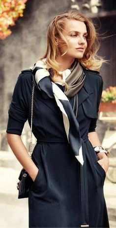 A large scarf, gently tied
