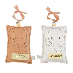 Elephant Asleep / Awake Door Hanger