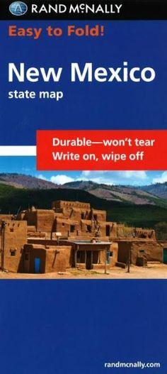 New Mexico, Easy to Fold by Rand McNally
