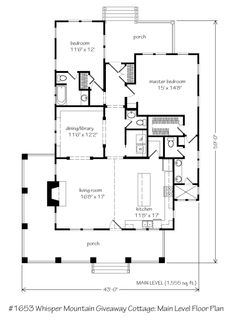 Whisper Creek - 1555 sf downstairs - Southern Living plan