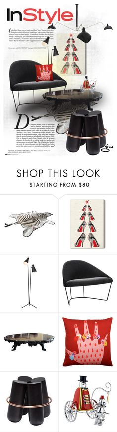 """""""Holiday InStyle..."""" by ian-giw ❤ liked on Polyvore featuring interior, interiors, interior design, home, home decor, interior decorating, Anja, Oliver Gal Artist Co., Nuevo and Trilogy"""