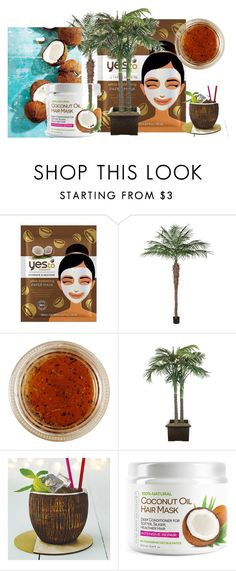 """#facemasks#coconut"" by giulia-sicilia ❤ liked on Polyvore featuring beauty, EARTH TU FACE, NDI, Becky Broome and facemasks"