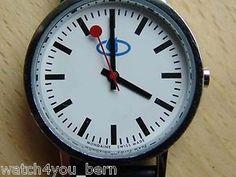 Mondaine Bahnhofs- Armbanduhr , Durchmesser: 33 mm in neuwertigen Zustand TOP