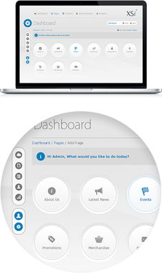 CMS Dashboard - User Interface Design - UX by Waseem Arshad, via Behance