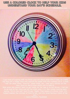 Amazing way to let little kids know what time it is