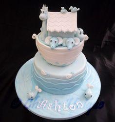 Noah's Ark Baby Christening cake