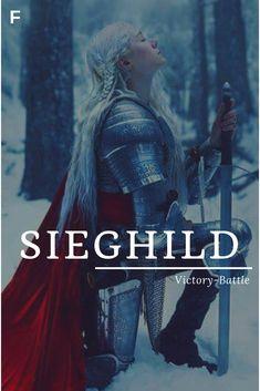 Sieghild meaning Victory-Battle German names S bab Girl Names with meaning S Baby Girl Names, Strong Baby Names, Unisex Baby Names, Kid Names, Female Character Names, Female Names, Aesthetic Names, Aesthetic Vintage, Feminine Names