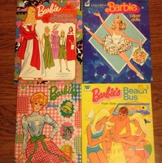 Vintage Lot 1970's Barbie Paper Doll Books, Beach Bus, Ballerina, Boutique on eBay!