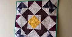 """Super excited to show off my Riley Blake Challenge finish.       Quilt Stats:        Name: RB in MQG    Size: approx. 19.5"""" x 19.5""""   Fabri..."""