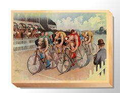 TRN 008 Transportation Art - Bike Race