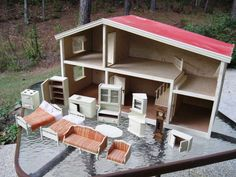 Classic Lundby Doll House & Furniture - ON SALE ITEM. $295.00, via Etsy.