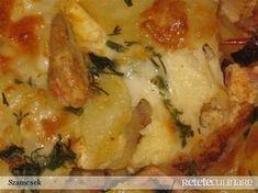 Reteta culinara Cartofi cu sos la cuptor din Carte de bucate, Mancaruri cu carne. Specific Romania. Cum sa faci Cartofi cu sos la cuptor Romania Food, Lasagna, Good Food, Food And Drink, Cooking Recipes, Chicken, Vegetables, Eat, Breakfast
