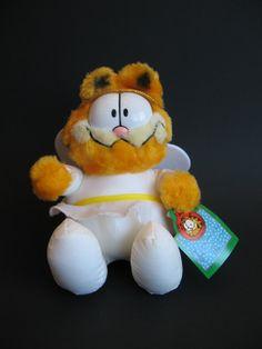 1990 McDonalds Plush Garfield the Cat Angel by VintageChezFulton, $12.00