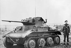 British Tetrarch light tank with Little John adaptor, date unknown